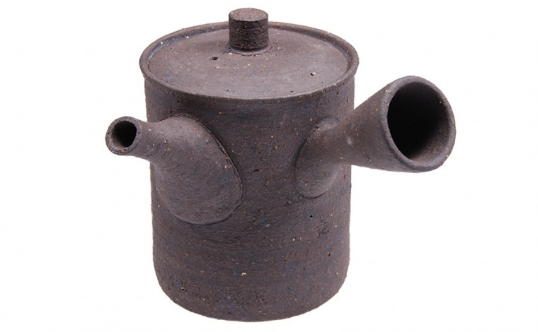 Kyusu Teekanne 'Fukyo' 350ml, grau, handgefertigt