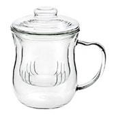 Glas Deckelbecher 0,3L mit Glassieb