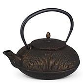 MAOCI Gusseisen-Teekanne Dalian (schwarz/goldfarben) - 1,2L