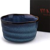 Matcha-Schale blau 400ml im Geschenkkarton