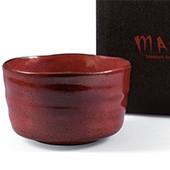 Matcha-Schale 400ml im Geschenkkarton, Rottöne