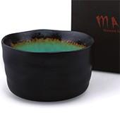 Matcha-Schale schwarz-grün 400ml im Geschenkkarton