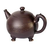 Original Yixing Teekanne 'Long Zhu' mit 4 Teecups, 260ml