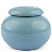 Porzellan Teedose, hellblau 440ml geschlossen