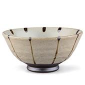 Tee-Schale 200ml - grau mit schwarzen Streifen