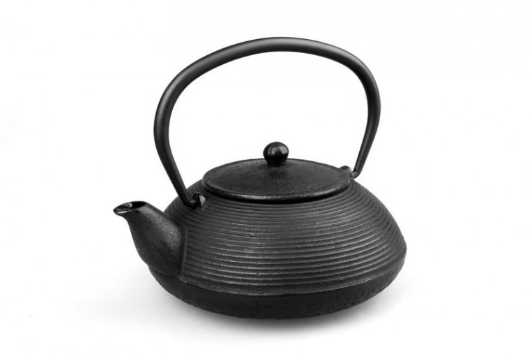 MAOCI Gusseisen-Teekanne Mikata (schwarz) - 1,0L