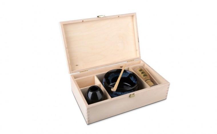 Matcha Geschenkset Yosuka in natur Geschenkbox, offen