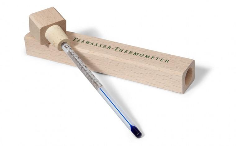 Teethermometer mit Holzkasten