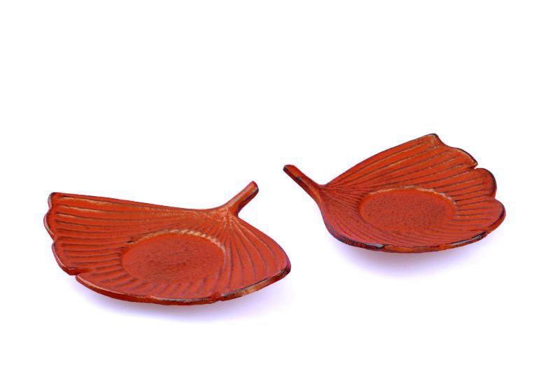 MAOCI Gusseisen Cup-Untersetzer Fuju (kaminrot), 2 Stück