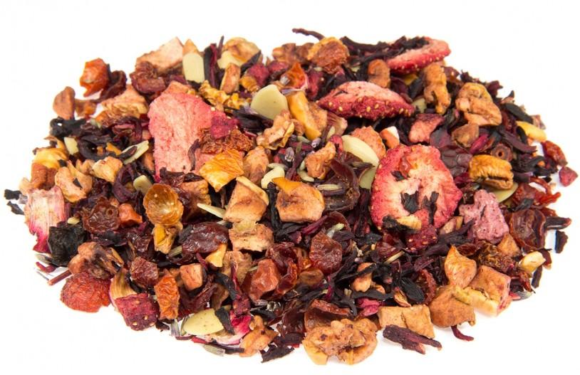 Früchtetee 'Erdbeer-Lavendel-Macaron'