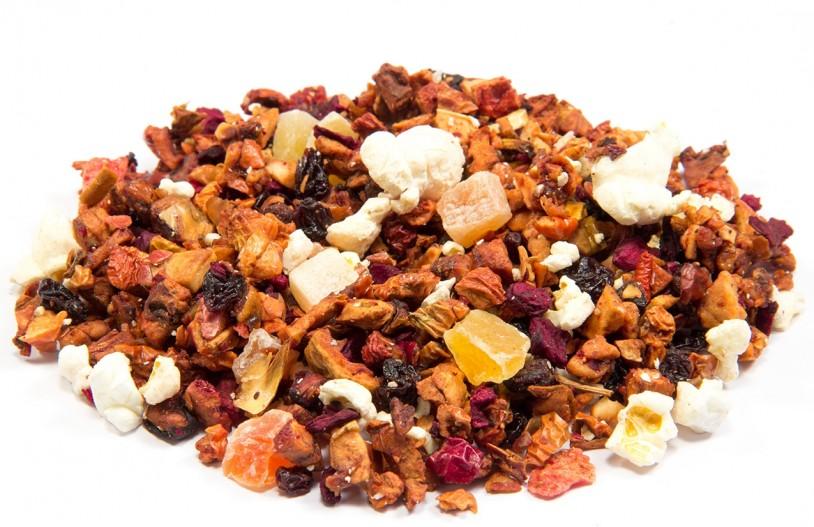 Früchtetee 'Erdbeer-Popcorn' säurearm