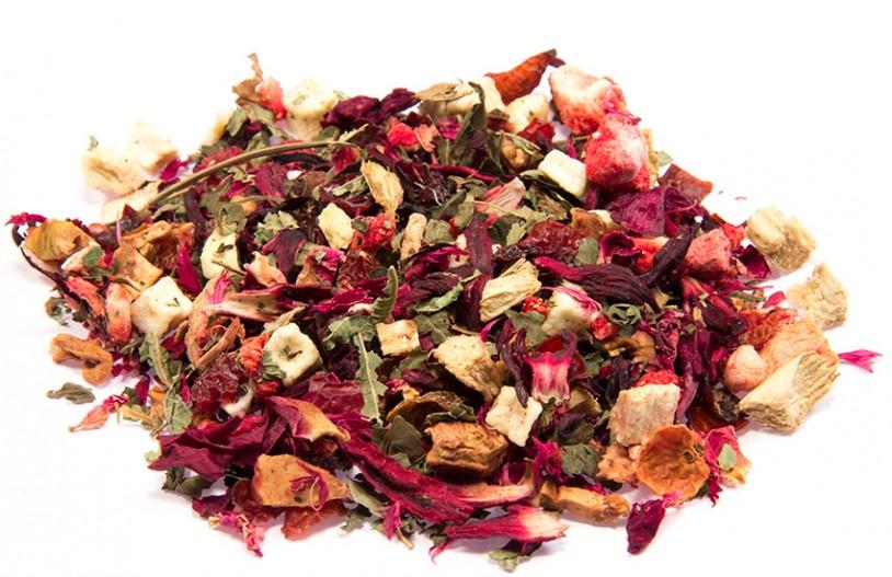 Früchtetee 'Erdbeer-Rhabarber-Bowle'