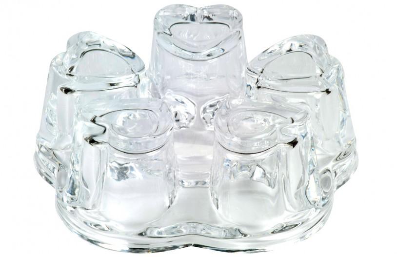 Glas Stövchen 'Anne', Ø 11cm