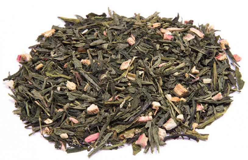 Grüner Tee 'Rhabarber-Sahne'