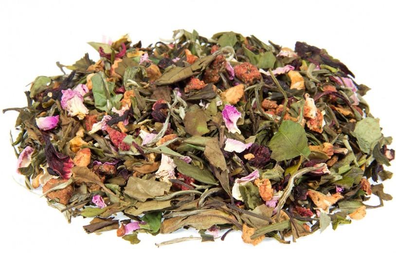 Bio Weißer Tee 'Hibiskusblüte-Erdbeere'