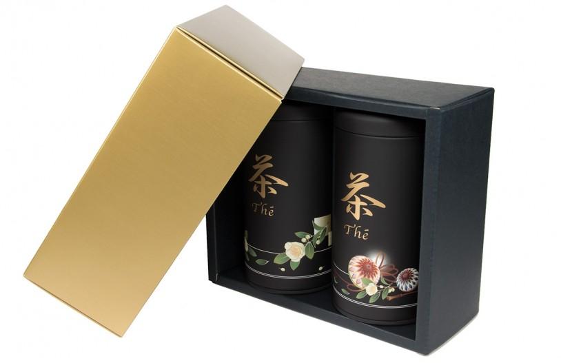 Geschenkverpackung Teedosen 'Anakusa', offen