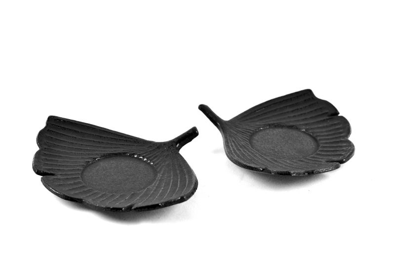 MAOCI Gusseisen Cup-Untersetzer Fuju (schwarz), 2 Stück