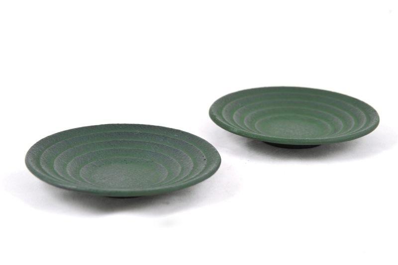 MAOCI Gusseisen Cup-Untersetzer Iruma (grün), 2 Stück