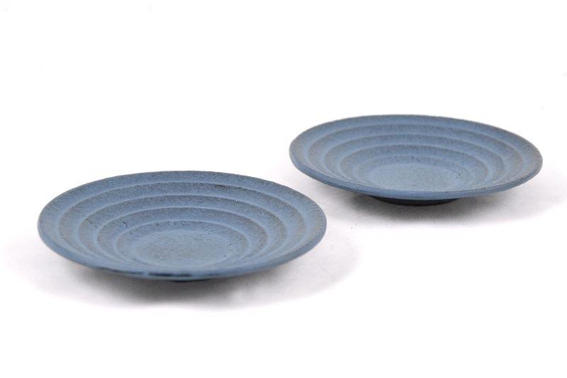 MAOCI Gusseisen Cup-Untersetzer Iruma (himmelblau), 2 Stück