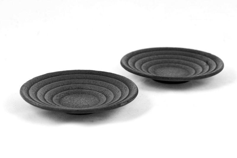 MAOCI Gusseisen Cup-Untersetzer Iruma (schwarz), 2 Stück
