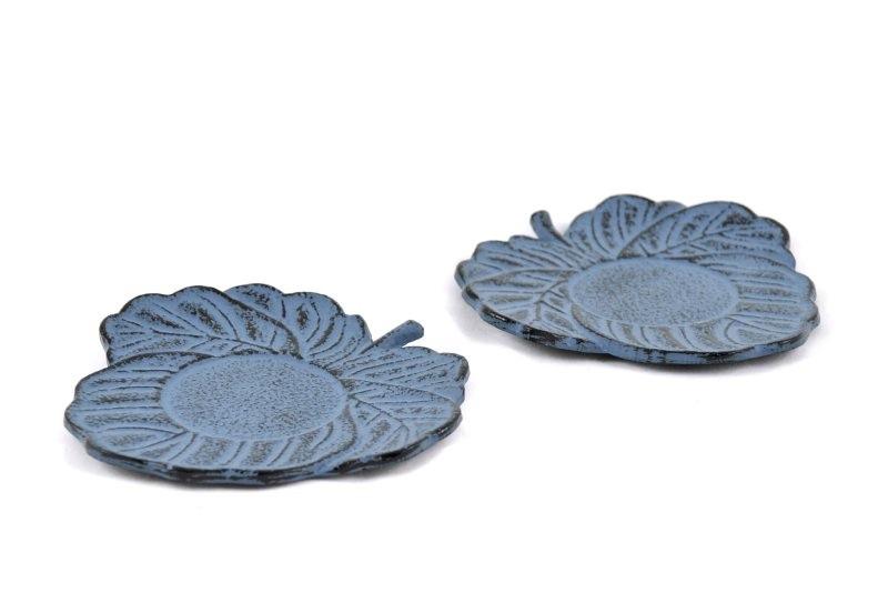 MAOCI Gusseisen Cup-Untersetzer Kitami (himmelblau), 2 Stück