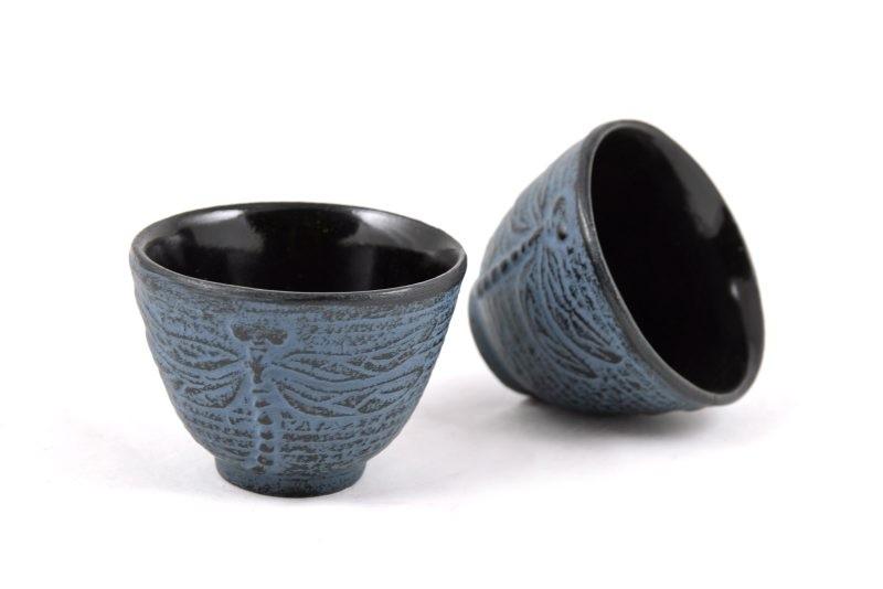 MAOCI Gusseisen-Teacups Mito (himmelblau), 2 Stück, 0,15L
