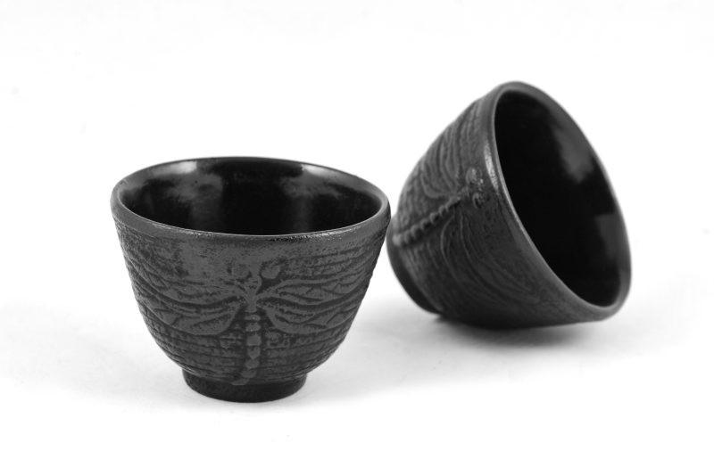 MAOCI Gusseisen-Teacups Mito (schwarz), 2 Stück, 0,15L