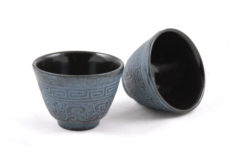 MAOCI Gusseisen-Teacups Nanyang (himmelblau), 2 Stück, 0,15L