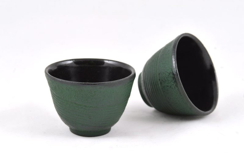 MAOCI Gusseisen-Teacups Tsuki (grün), 2 Stück, 0,15L