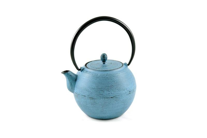 MAOCI Gusseisen-Teekanne Iruma (himmelblau) - 1,0L