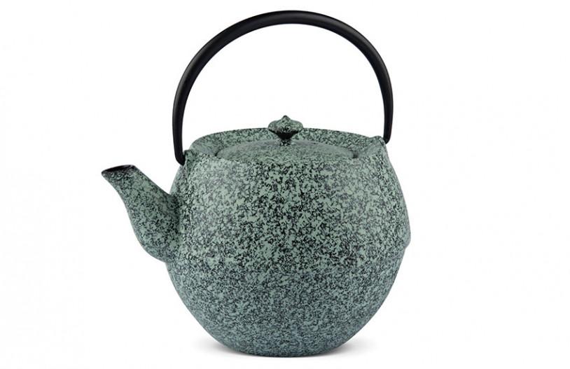 MAOCI Gusseisen-Teekanne Kama (sprayed, mintgrün) - 1,0L