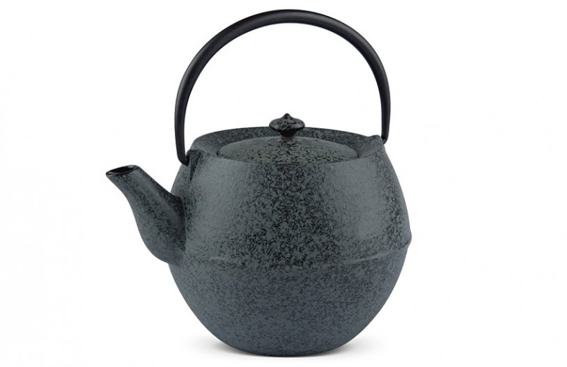 MAOCI Gusseisen-Teekanne Kama (sprayed, schwarz) - 1,0L