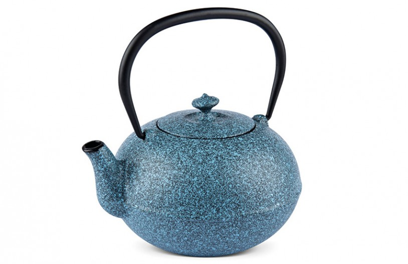 MAOCI Gusseisen-Teekanne Kano (sprayed, himmelblau) - 1,1L