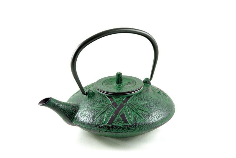 MAOCI Gusseisen-Teekanne Kitami flach (grün) - 1,2L