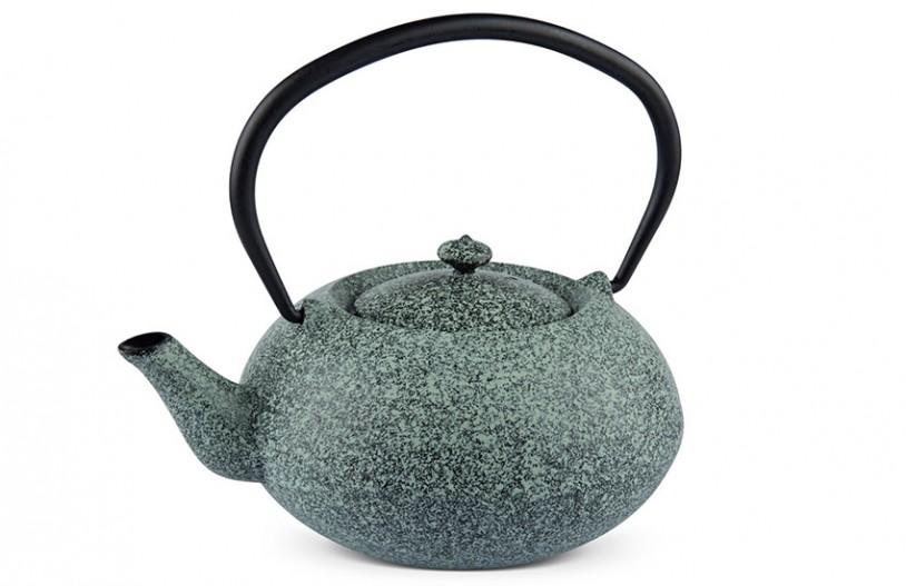 MAOCI Gusseisen-Teekanne Komo (sprayed, mintgrün) - 1,0L