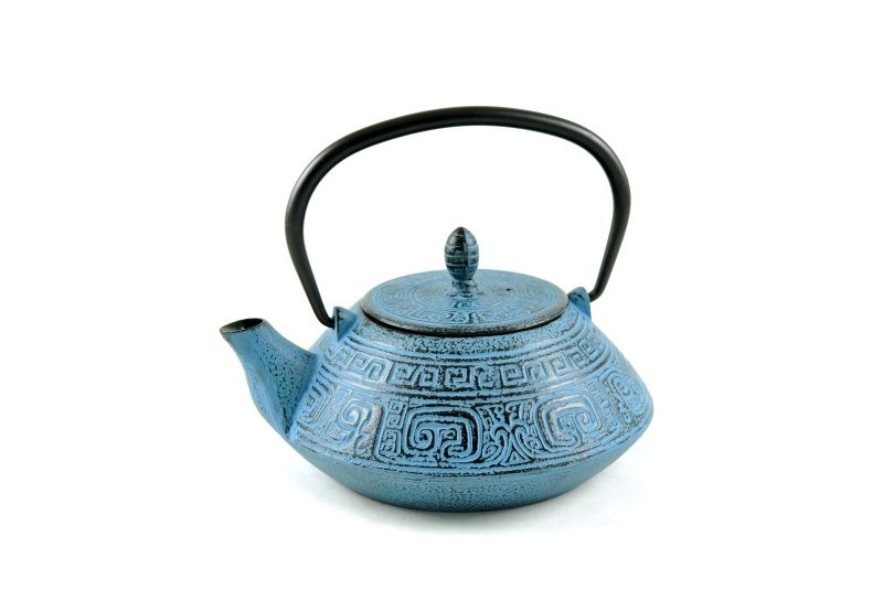 MAOCI Gusseisen-Teekanne Nayang (himmelblau) - 1,2L
