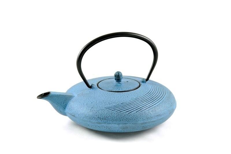 MAOCI Gusseisen-Teekanne Tsuki (himmelblau) - 1,1L