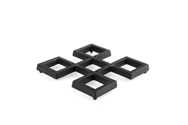 MAOCI Gusseisen Untersetzer Hiro (schwarz), diagonal