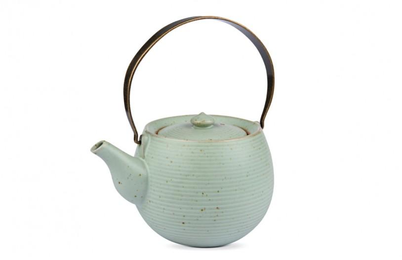 MAOCI Keramik Teekanne pastellgrün, ca. 700ml