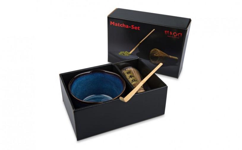 Matcha-Geschenkset im Karton, offen