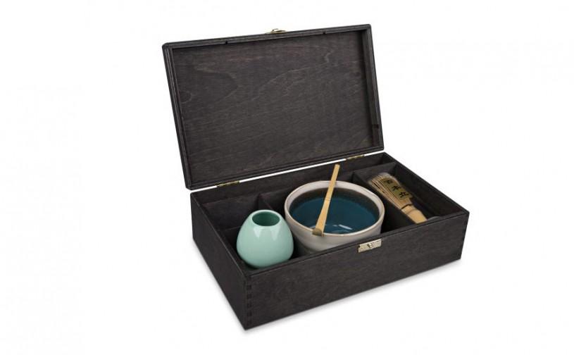 Matcha Geschenk-Set 'Ima', offene Box, schwarz