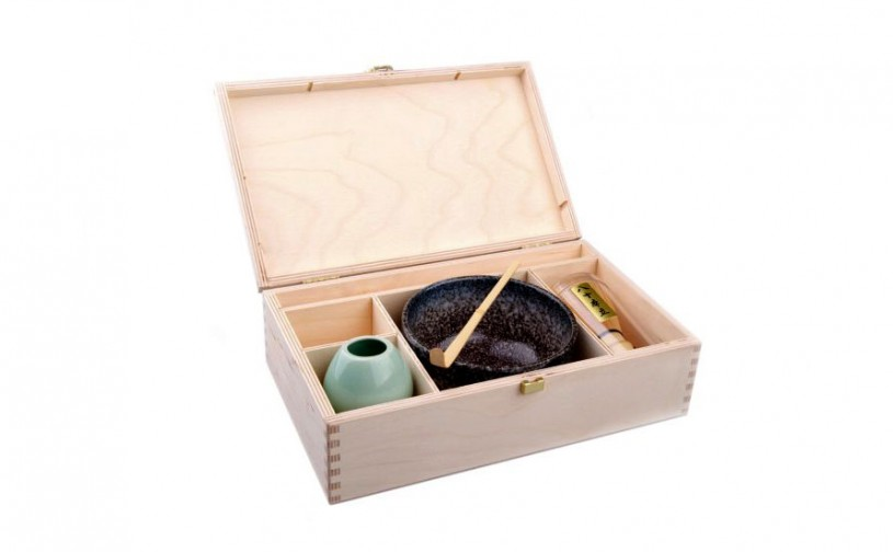 Matcha Geschenkset Miyagi in natur Holzbox