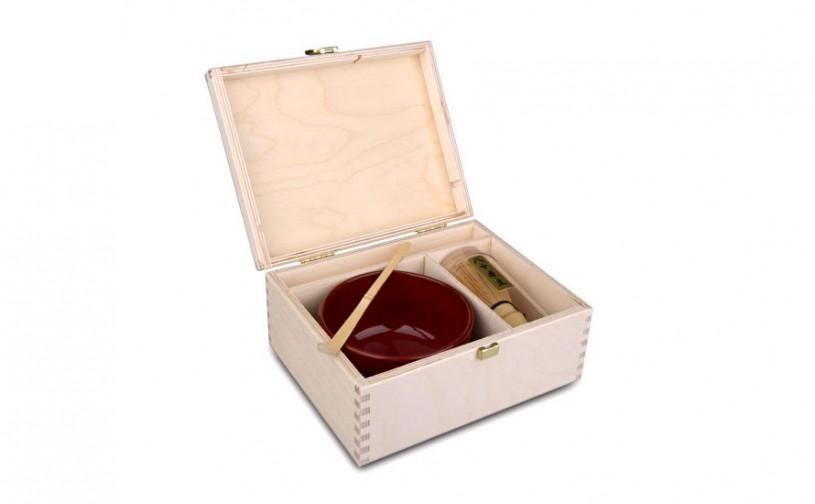 Matcha Geschenk-Set Sano - Box naturfarben