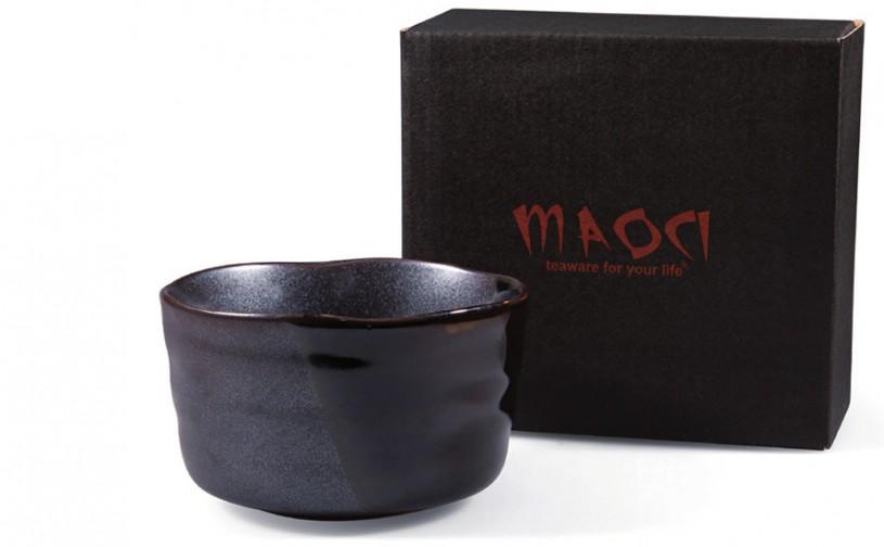 Matcha-Schale 400ml im Geschenkkarton, schwarz