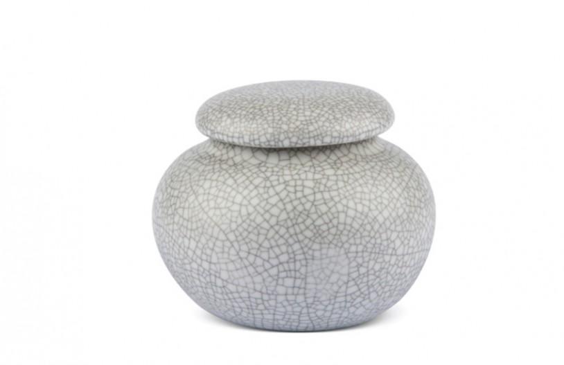 Porzellan Teedose grau gesprenkelt, 210ml