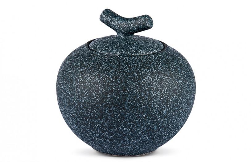Porzellan Teedose schwarz-weiß gemustert, 500ml