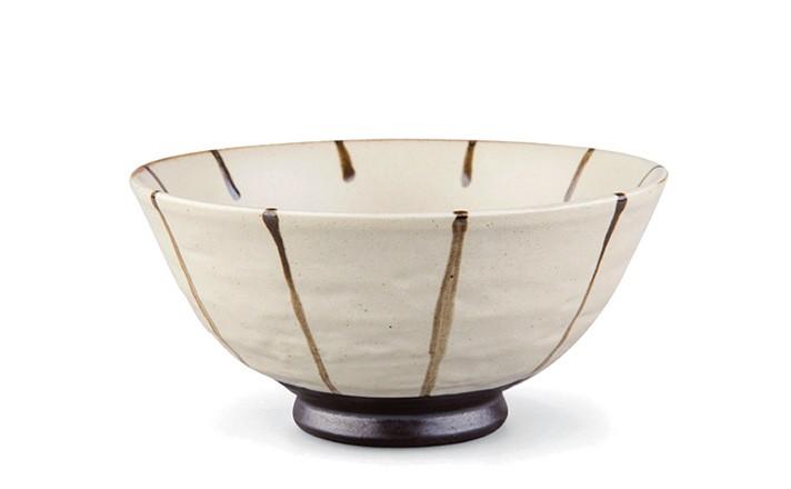 Tee-Schale 200ml - hellgrau mit schwarzen Streifen