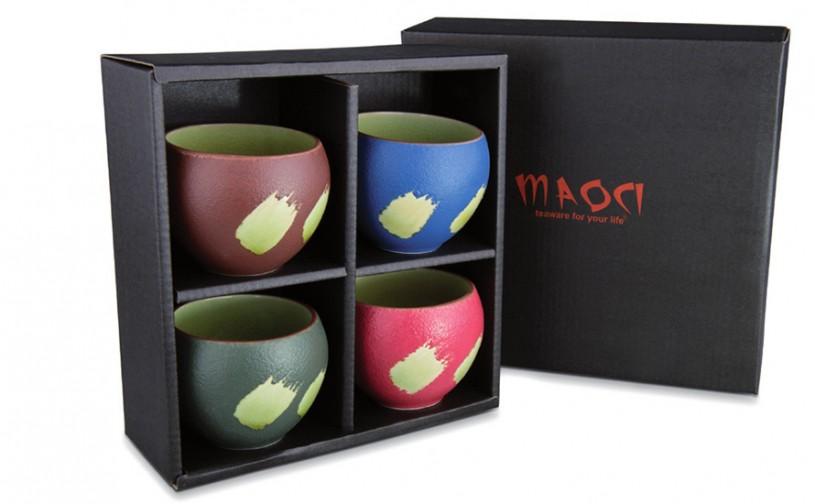Prozellan Teacups / Teebecher Geschenkset (vier-farbig)