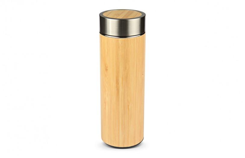 Tea-To-Go Isolier-Becher 'Bambus' verschlossen