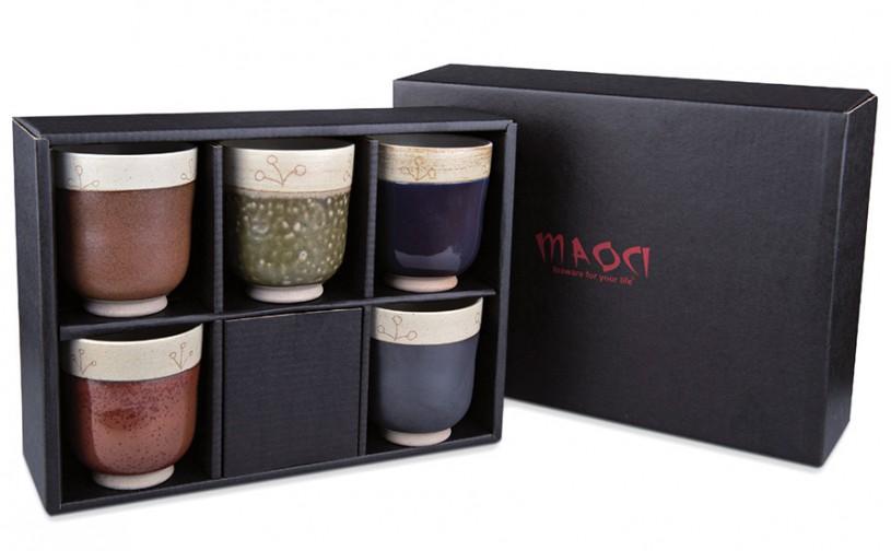 Keramik Teebecher Geschenkset im Geschenkkarton